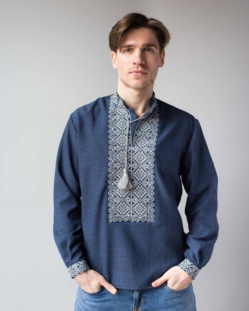 Чоловічі сорочки під джинси з вишивкою