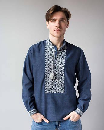 Чоловічі сорочки під джинси з вишивкою, фото 2