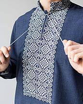 Чоловічі сорочки під джинси з вишивкою, фото 3