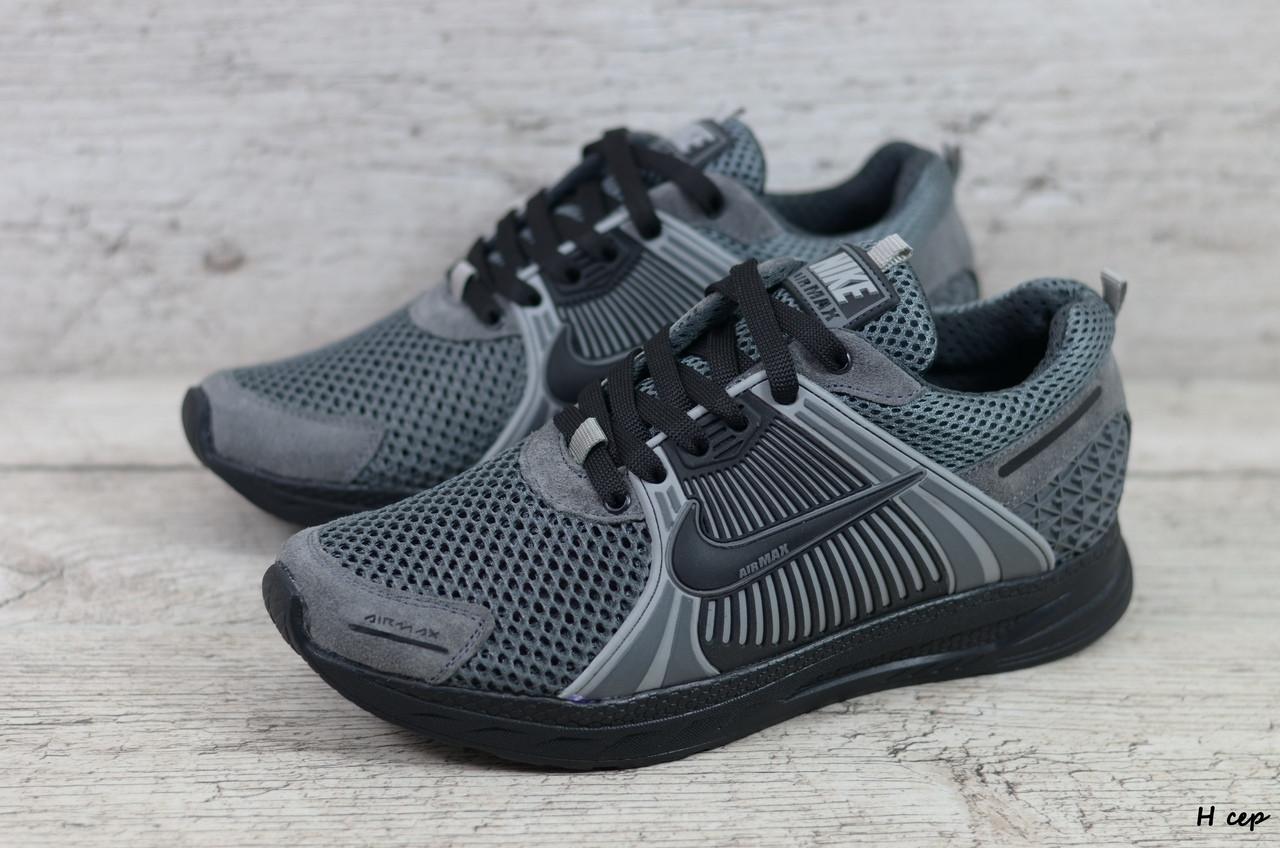 Мужские кроссовки Nike (Реплика) (Код: Н сер ) ►Размеры [40,41,42,43,44,45]