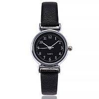 Женские наручные часы с черным ремешком код 536