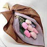 Букет з мильних квітів троянди Квіткова композиція з мила ручної роботи Мильний букет, фото 10