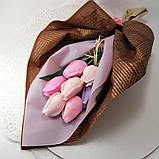 Букет з мильних квітів троянди Квіткова композиція з мила ручної роботи Мильний букет, фото 9