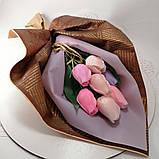 Букет з мильних квітів троянди Квіткова композиція з мила ручної роботи Мильний букет, фото 8