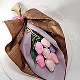 Букет з мильних квітів троянди Квіткова композиція з мила ручної роботи Мильний букет, фото 7
