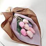 Букет з мильних квітів троянди Квіткова композиція з мила ручної роботи Мильний букет, фото 5