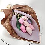 Букет з мильних квітів троянди Квіткова композиція з мила ручної роботи Мильний букет, фото 4