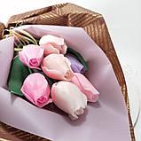 Букет з мильних квітів троянди Квіткова композиція з мила ручної роботи Мильний букет, фото 2