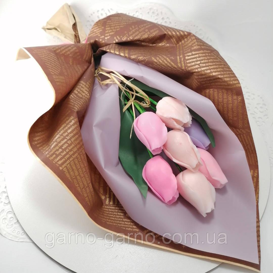 Букет з мильних квітів троянди Квіткова композиція з мила ручної роботи Мильний букет