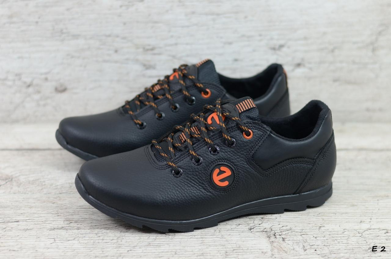 Мужские кожаные кроссовки Ecco (Реплика) (Код: Е 2  ) ►Размеры [40,41,42,43,44,45]