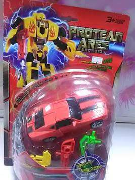 Трансформер робот в форме машины красный
