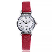 Женские наручные часы с красным ремешком код 536