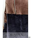 Уютный повседневный костюм-двойка большого размера с кофтой и брюками  Размеры: 50-52,54-56,58-60,62-64, фото 3