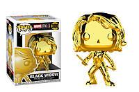 Фигурка Funko Pop Фанко Поп Марвел Черная вдова Золотая Marvel Black Widow Chrome 10 см BW 380