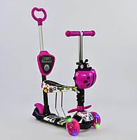 Самокат-беговел божья коровка 5в1 Best Scooter (подсветка колес) (арт. 74230)  **