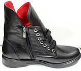 Ботинки женские демисезонные кожаные на низком ходу от производителя модель ДР1018, фото 3