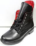 Ботинки женские демисезонные кожаные на низком ходу от производителя модель ДР1018, фото 2