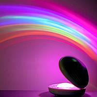 Ночник-светильник Ракушка проектор радуги Rainbow  Код 13-7783