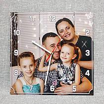 Квадратные настенные часы с вашей фотографией