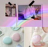 Ночник-светильник Ракушка проектор радуги Rainbow  Код 13-7807, фото 7