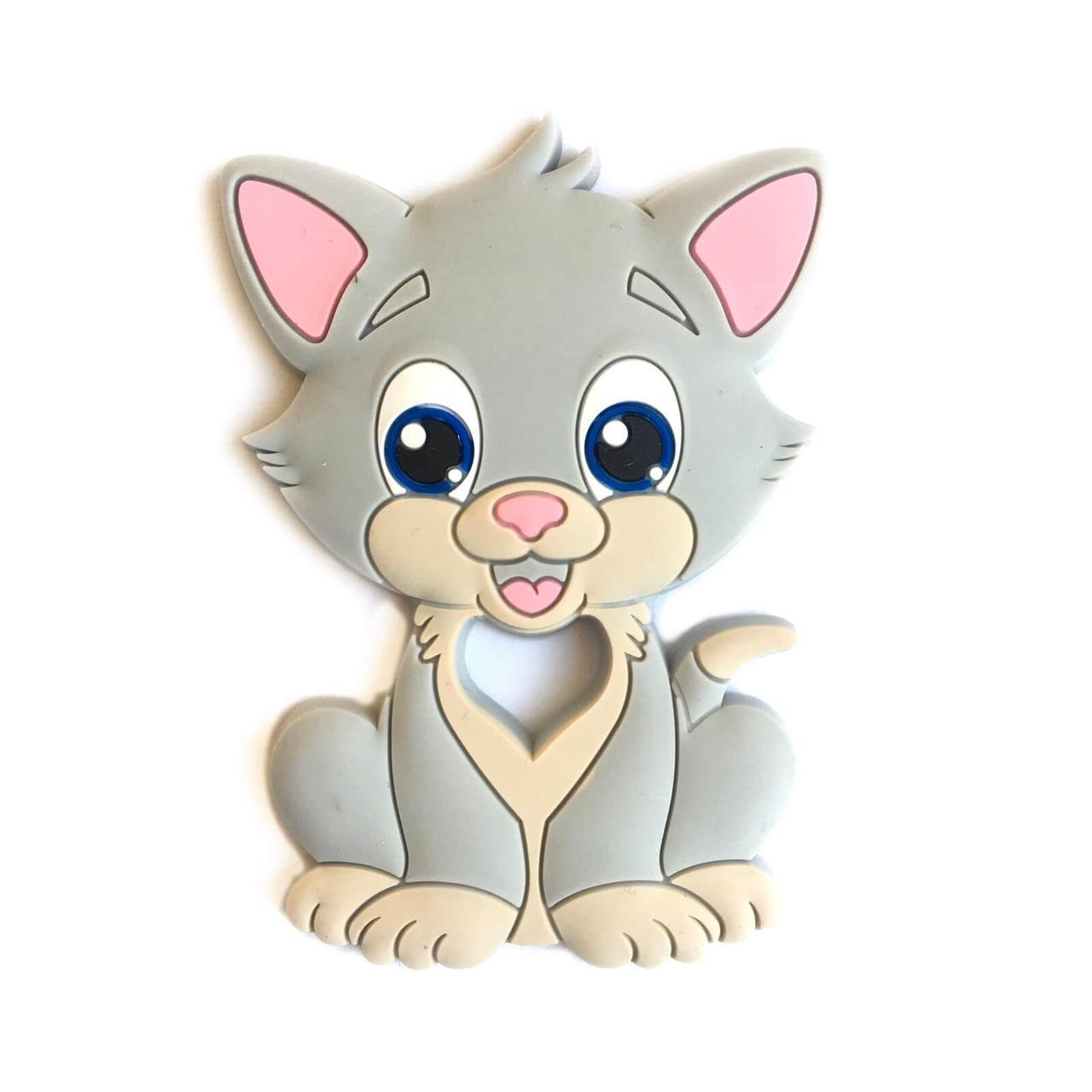 Котик ТОМ (светло-серый) прорезыватель для зубов