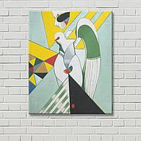 Картина в стиле ню Декорация стен Настенный декор Цветная живопись Геометрический рисунок