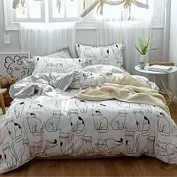 Комплект постельного белья Котики (двуспальный-евро) Berni