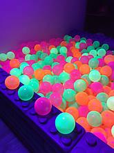 Шарики для сухого бассейна светящиеся 8 см