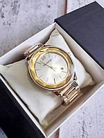 Часы 0012 наручные женские часы золото+серебристый циферблат, фото 1