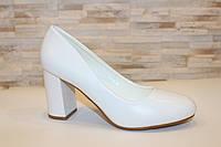 Туфли женские белые на каблуке код Т023