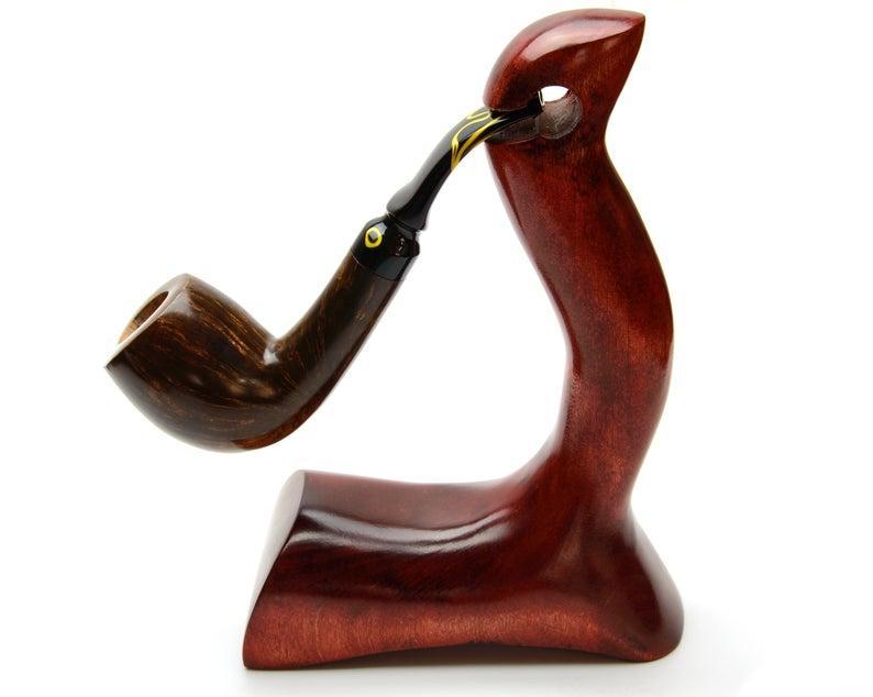 Авторская трубка Bent из Итальянского бриара высокого качества прямоток ручной работы