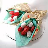 Букет з мильних квітів тюльпани Квіткова композиція з мила ручної роботи Мильний букет, фото 3