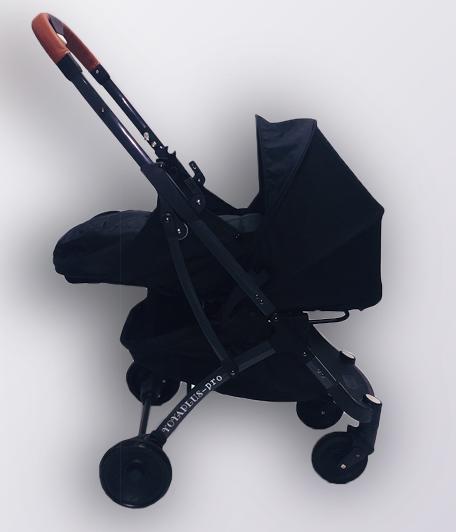 Коляска YOYA plus Pro + блок для новонароджених Чорна