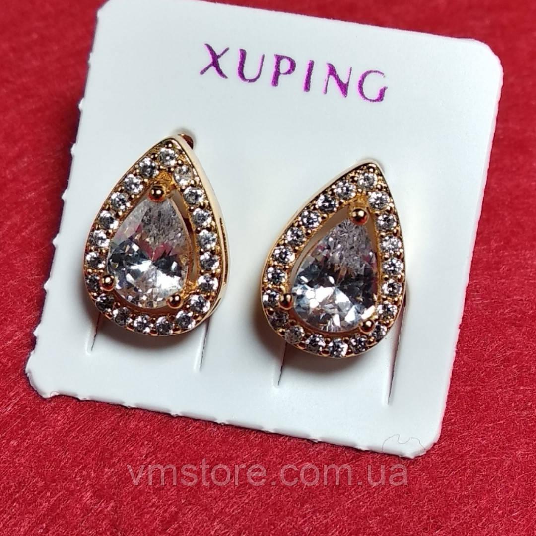 Xuping серьги медицинское золото с цирконием