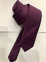 Галстук мужской Croate однотонный гладкий цвета баклажан
