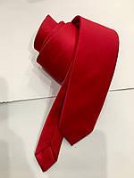 Галстук мужской Croate однотонный гладкий красный