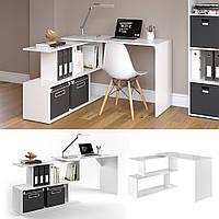 Vicco угловой стол Levia, компьютерный стол 120x77, цвет белый