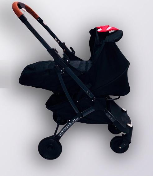 Коляска YOYA plus Pro + блок для новорожденных Черная Минни