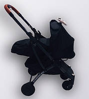 Коляска YOYA plus Pro + блок для новорожденных Черная Микки, фото 1