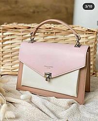 Женская сумка клатч David Jones, розовая / жіноча сумка