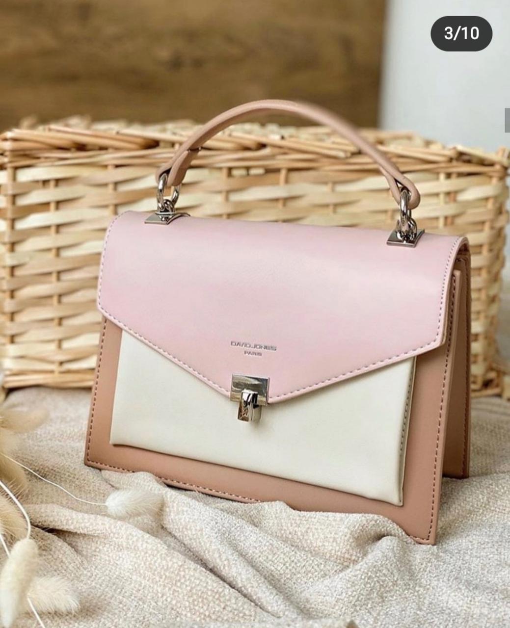 Жіноча сумка клатч David Jones, рожева / жіноча сумка