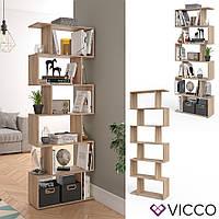 Vicco разделитель комнаты Levio, стеллаж для папок и книг, 70x192, цвет сонома