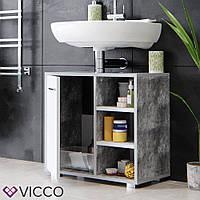 Vicco шкаф под умывальник Perry, тумба под раковину, 60x56, цвет бетон
