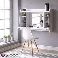 Vicco настенный туалетный столик Beauty, навесной стол, зеркало, 110x75, цвет белый