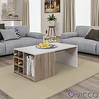 Vicco журнальный столик Emil 100x59, цвет белый, сонома