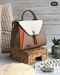 Женская сумка клатч David Jones, бежевая / жіноча сумка