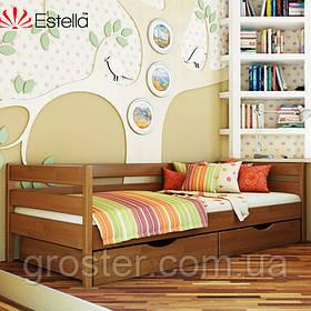 Дерев'яне ліжко Нота з бука. Ліжко для підлітка, дорослого