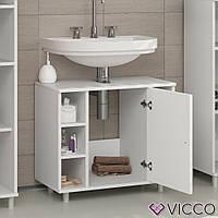 Vicco шкаф под умывальник Fynn, комод под раковину, 60x54, цвет белый
