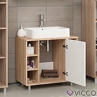 Vicco шкаф под умывальник Fynn, комод под раковину, 60x54, цвет белый, сонома