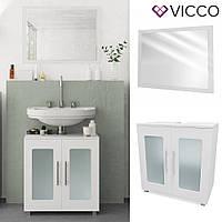 Vicco набор для ванной комнаты Rayk 1, зеркало + тумба, цвет белый
